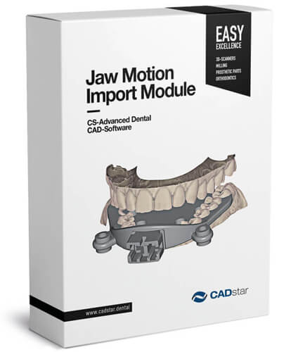 "<h4>Jaw Motion Import</h4> <br> With the ""Jaw movement import"" module, the user can import real movement registration from external devices (JMA system from Zebris). This module works in combination with the virtual articulator module."