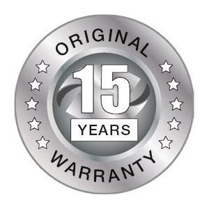 warranty 15 years
